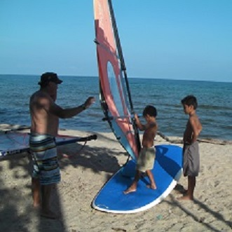 windsurf lessons in koh samui